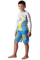 Компрессионный рашгард и шорты ММА Berserk детские HETMAN blue