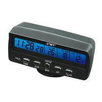 Часы VST-7045v с 2-мя датчиками температуры и вольтметром