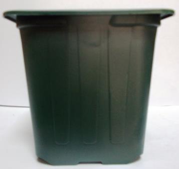 Горщик для розсади 7*7*6,5 темно зелений