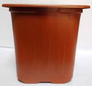 Горщик для розсади 7*7*6,5 коричневий