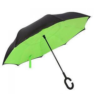 Ветрозащитный зонт обратного сложения д 110см 8сп Green L