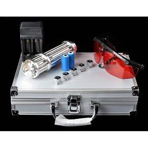 Лазерная указка с насадками Blue Laser в кейсе B017 50000mW