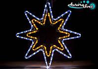 Светодиодная новогодняя LED фигура дюралайт снежинка AuroraSvet 50х60 см