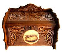 Хлебница деревянная , оригинальный сувенир в подарок, фото 1