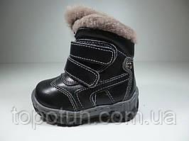 """Зимние ботинки для мальчика """"Y.TOP"""" кожаные Размер: 20,21"""