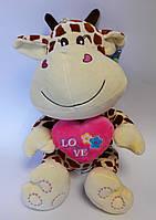 Мягкая музыкальная игрушка Жираф С сердечком 4181/30 Масяня Китай