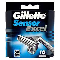 Сменные кассеты для бритья Gillette Sensor Excel  (10 шт.)