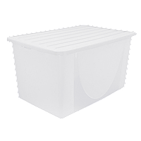 Контейнер для хранения вещей с крышкой 9,6л прозрачный