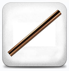 Труба гладкая 16 мм 1,6 м, медь античная