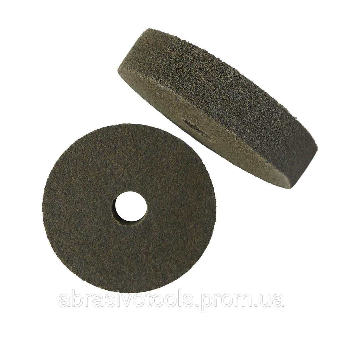 Абразивный диск скотч-брайт 350х50х32 F240, F320, F400, F600 зелёный
