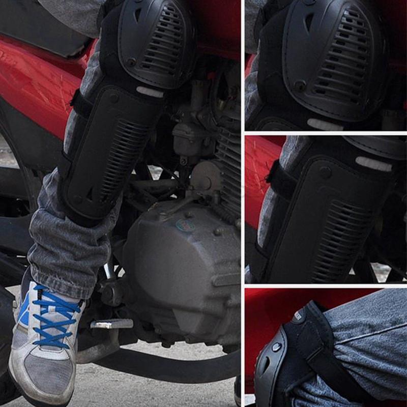 Комплект защиты колен и локтей для мотоциклистов.