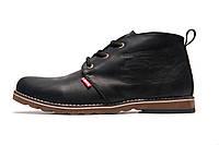 Зимние ботинки мужские Levi's, черные, натуральная кожа, р. 41 42 43 44 45