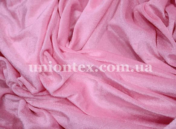 Велюр стрейчевый розовый, фото 2