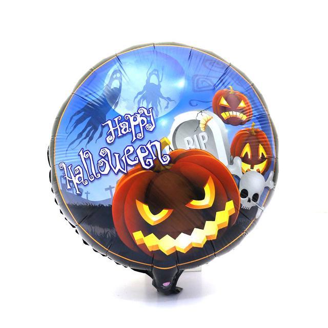 фольгированный щарик happy halloween