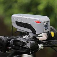 Фонарь велосипедный HJ-7599-T6 (аккумулятор, велозвонок, выносная кнопка)