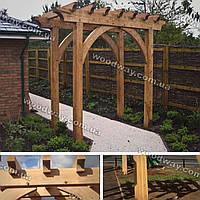 Садовая арка из дерева для цветов, арочные опоры для вьющихся растений