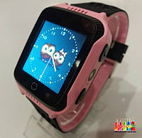 Детские Умные Часы Smart Baby Watch G900A с Камерой и Фонариком Розовый с черным