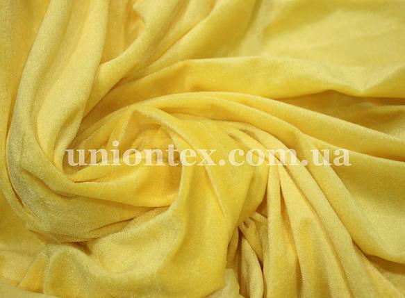Велюр стрейчевый желтый, фото 2