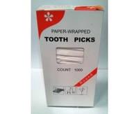 Зубочистка в индивидуальной упаковке бумага (1000 шт/уп.) по 50 уп./ящике