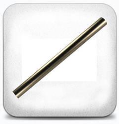 Труба гладкая 16 мм 1,6 м, сатин