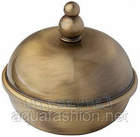 Косметическая баночка в ванную бронзовая Bagno&Associati Opera OP86292