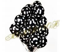 Черные шары в белый горошек