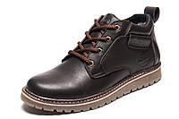 Зимние мужские ботинки Timberland, коричневые, натуральная кожа, р. 40 41 42 43 44 45
