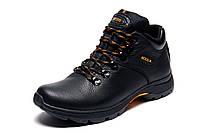 Зимние мужские ботинки Natural Motion, черные, натуральная кожа, р. 40 41 42 43 44 45