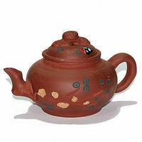 Чайник глиняный «Зеленая ветка», 500 мл.