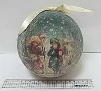 "Новогодний елочный шар ""Зима"" 15 см. 10264"