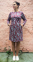 Платье-туника трикотажное с карманами П57