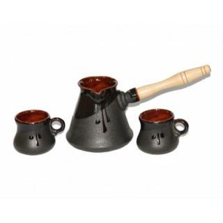 """Набор из керамической турки и двух чашек """"Рио"""""""