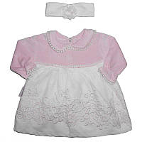 Платье велюр 62-74 + повязка арт.160