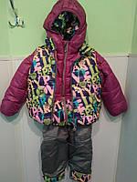 Детский теплый костюмчик на девочку тройка