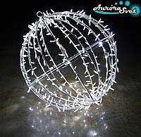 Светодиодная LED фигура шар из гирлянды AuroraSvet 80cм 300 led
