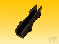 Вкладыш 14 PE, для рейки 14 мм, 150 x ø 50 мм, запчасти U-образный профиль, с возможностью вращения, ThyssenKrupp