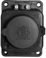 Колодка Bemis с заземлением 1 гн. черный BK1-1402-3511