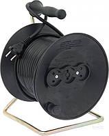Удлинитель на катушке  E.next ПВС 2x2,5 5 кВт без заземления 3 гн. 20 м черный
