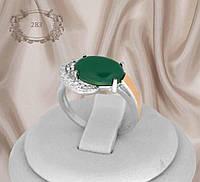 """Серебряное кольцо с золотыми накладками """"283"""", фото 1"""