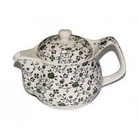 """Чайник керамический """"Зеленый"""" с метал. ситом 350 мл"""