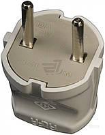 Вилка электрическая  ALFA без заземления 250В 10А IP20 пластик белый