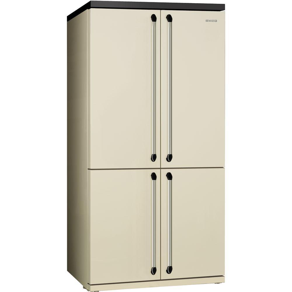 Отдельностоящий 4-х дверный холодильник Smeg FQ960P кремовый