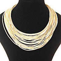[40 мм] Ожерелье цвета слоновой кости веревочные нити плотные, магнитная застежка сзади