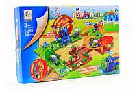 Трек детский «Rail train» (поезд, звук, свет, 60 деталей), фото 1