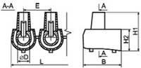 Клеммник концевой (1 пластина - 5 шт) сечение 6 квадрат мм