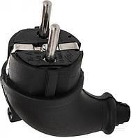 Вилка кабельная каучуковая  Bemis 16 A 220 В IP44 BEM 10-114 с заземлением 250В 16А IP44 черный