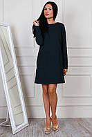 Платье прямого фасона с карманами