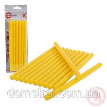 Комплект желтых клеевых стержней 11,2 мм x 200 мм, 12 шт INTERTOOL RT-1020