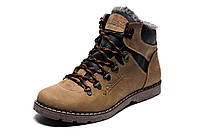Зимние ботинки мужские Columbia, на меху, кожаные, оливковые,  р. 40 42 43 44 45