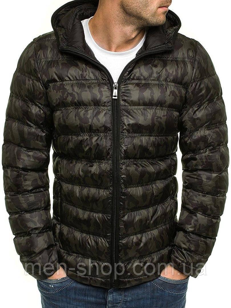 f12e7f35aeb5 Куртка Демисезонная Мужская Зеленый Камуфляж — в Категории